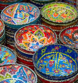 Türk lokumu tabağı