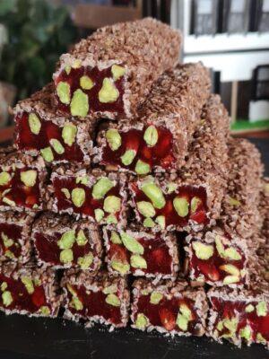Zoetterette Melkchocolade&Granaatappel &Pistache