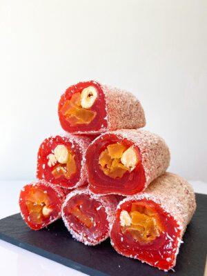 Zoetterette kokos Perzik hazelnoten  Turks fruit